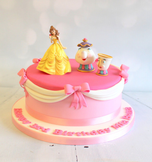 Beauty and the Beast Cake with Belle and Tea Cup