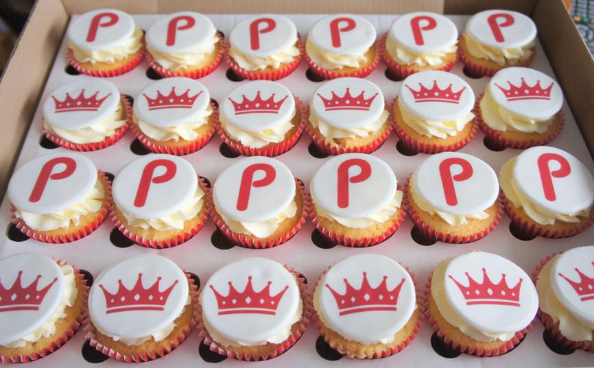 Corporate Logo Cupcakes 1