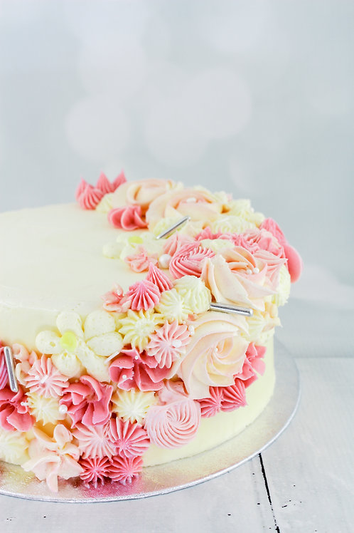 Mother's Day Floral Cake