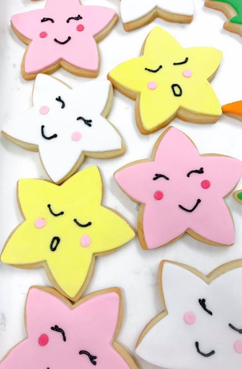 Star Face Iced Biscuits