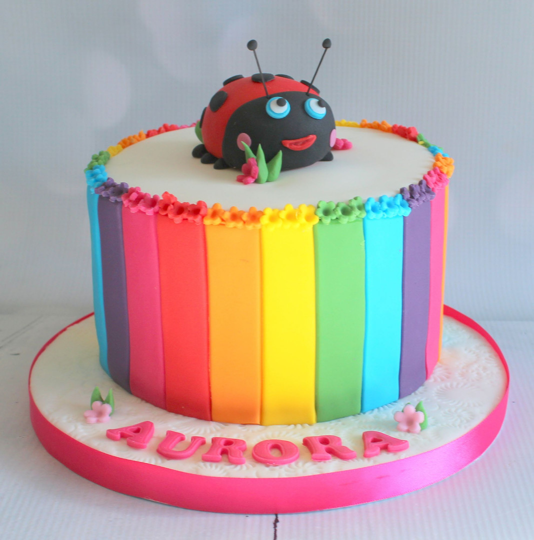 Rainbow Lady Bird Cake