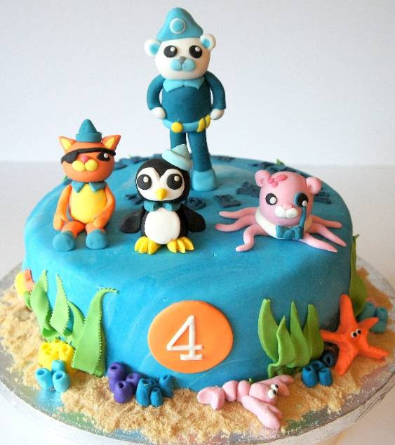 Octanauts Cake with 4 Figures and Sea shells