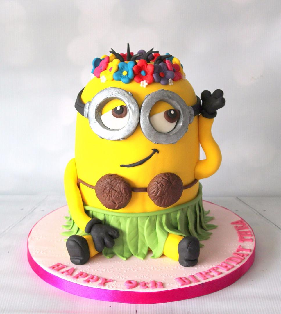 Giant Minion Cake