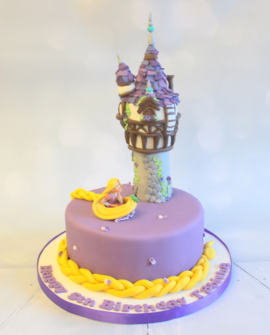 Purple Rapunzel Cake