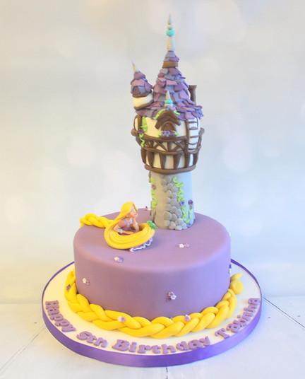 Purple Rapunzel Cake