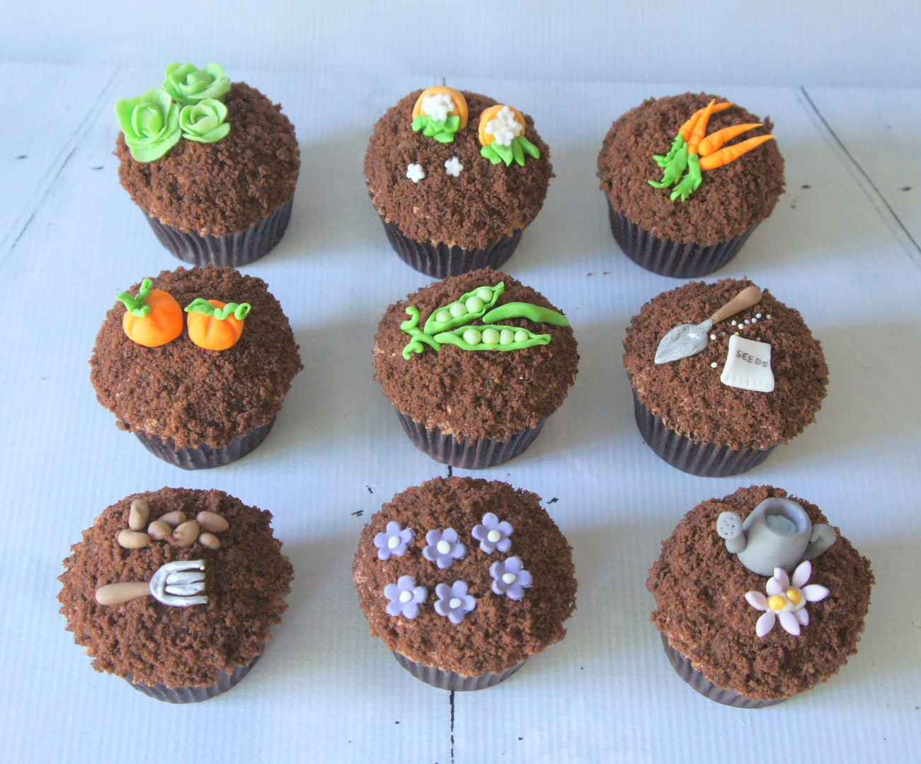Garden Patch Cupcakes with Soil