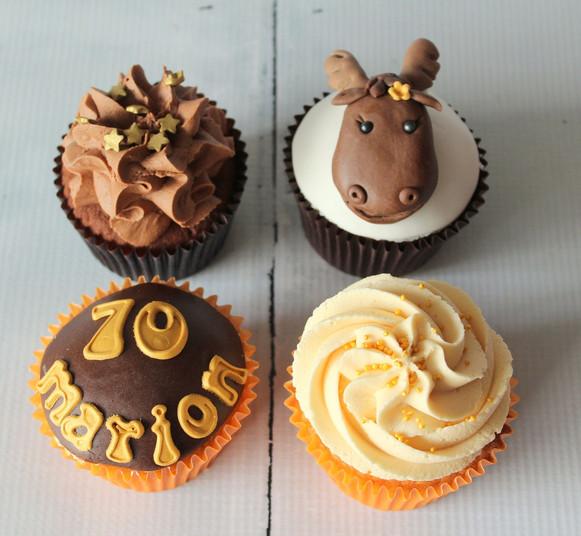 Horse 70th Birthday Cupcakes.jpg