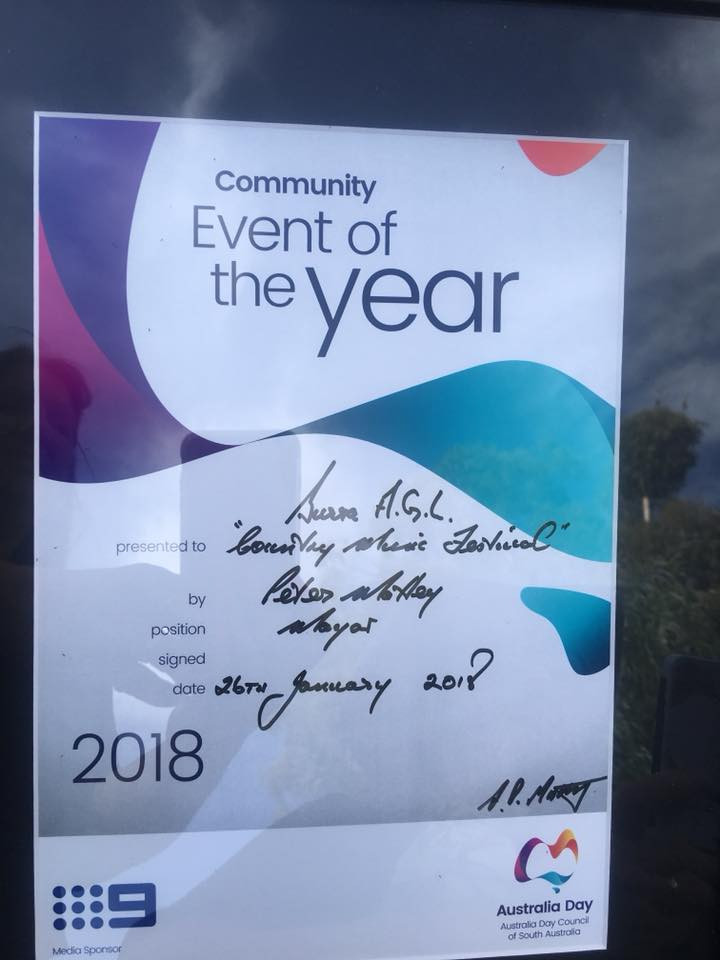 COMMUNITY EVENT OF THE YEAR