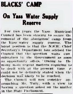 Blacks' Camp_on Yass Water Supply Reserv