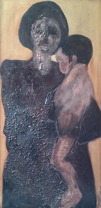 Öl und Material auf Leinwand (1970)