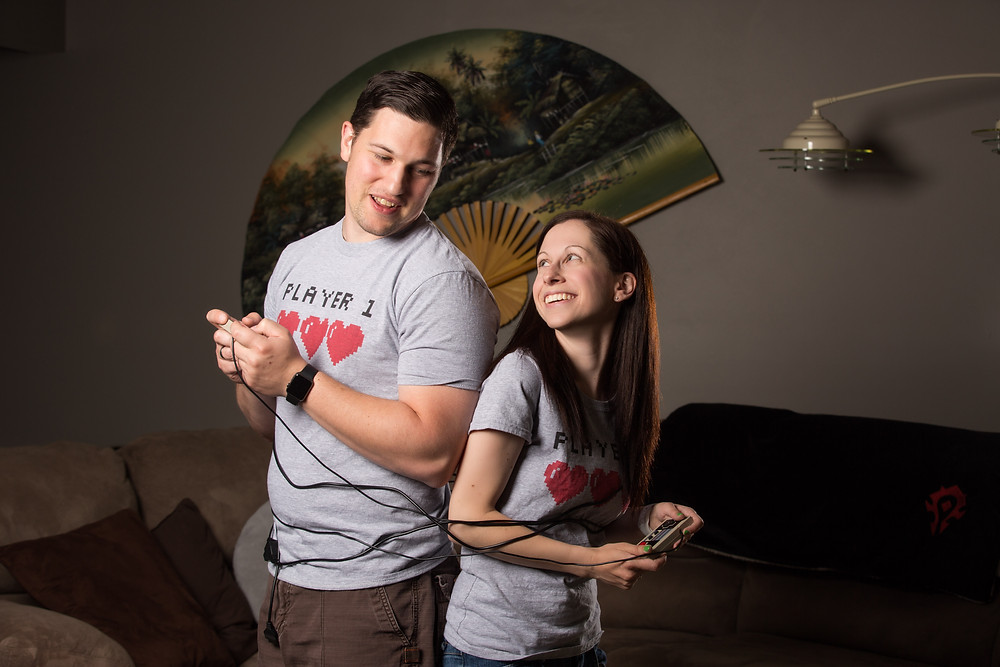 Video game engagement photo ideas nintendo controllers