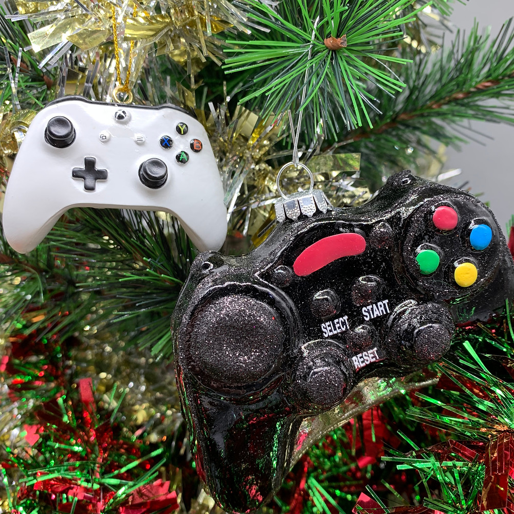 Xbox and gaming controller ornaments