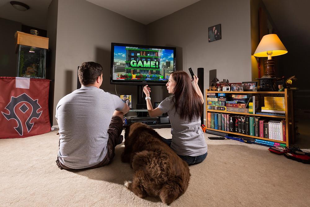 Video game engagement photo ideas Smash Bros
