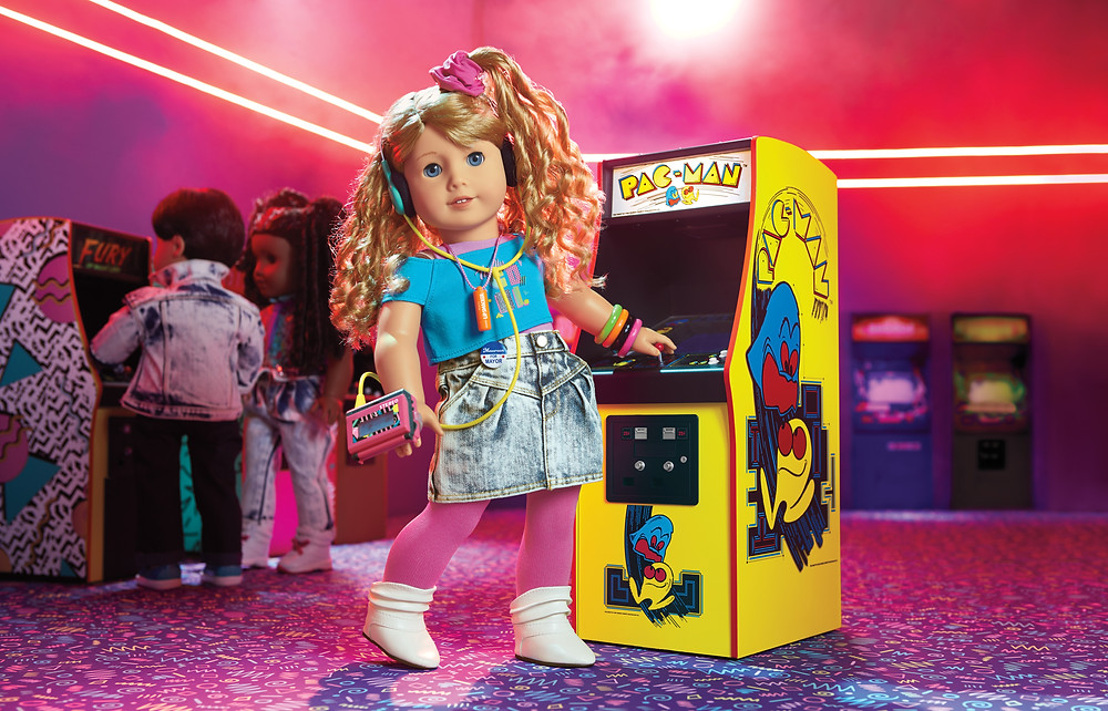 American Girl doll Courtney Moore is a PAC-MAN gamer who wants to create her own games!