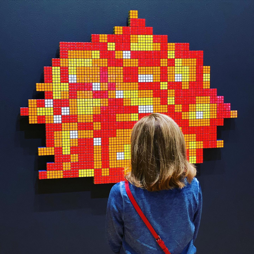 Rubik's Cube Wipeout (2014) by the artist Invader