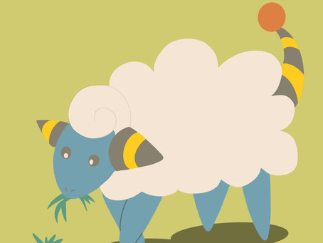 Mareep digital art (and wallpapers for you)