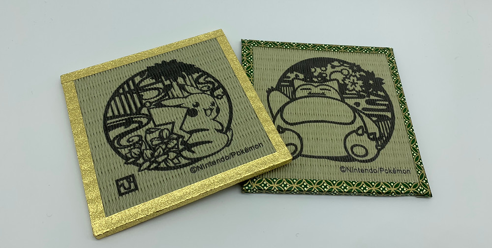 Pikachu and Snorlax coasters from Japan Pokemon Center