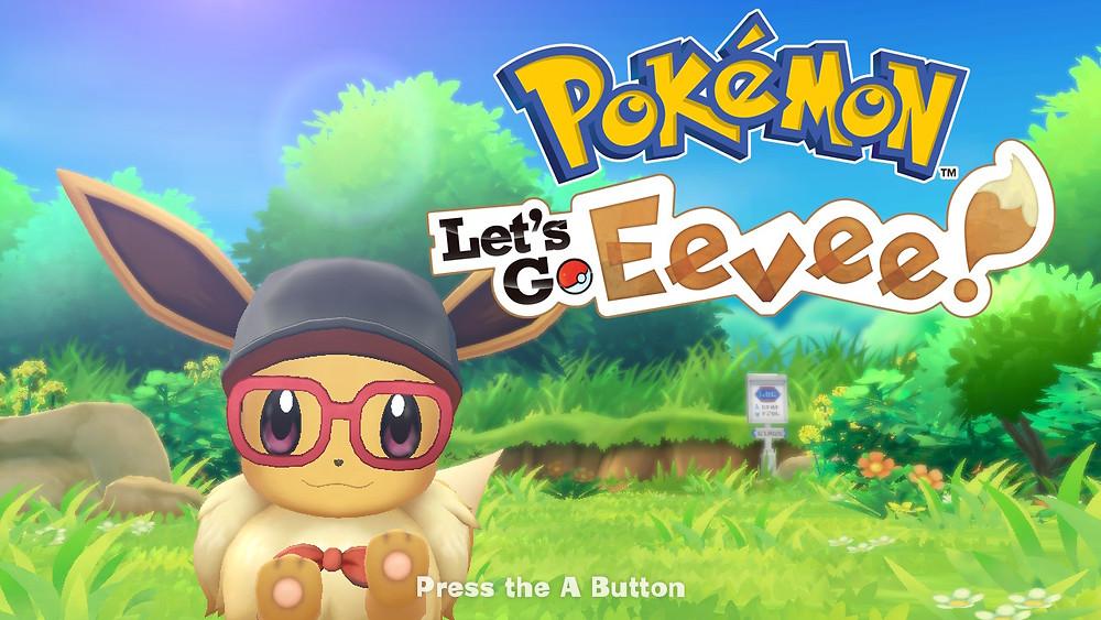 Pokémon game Let's Go Eevee starting screen