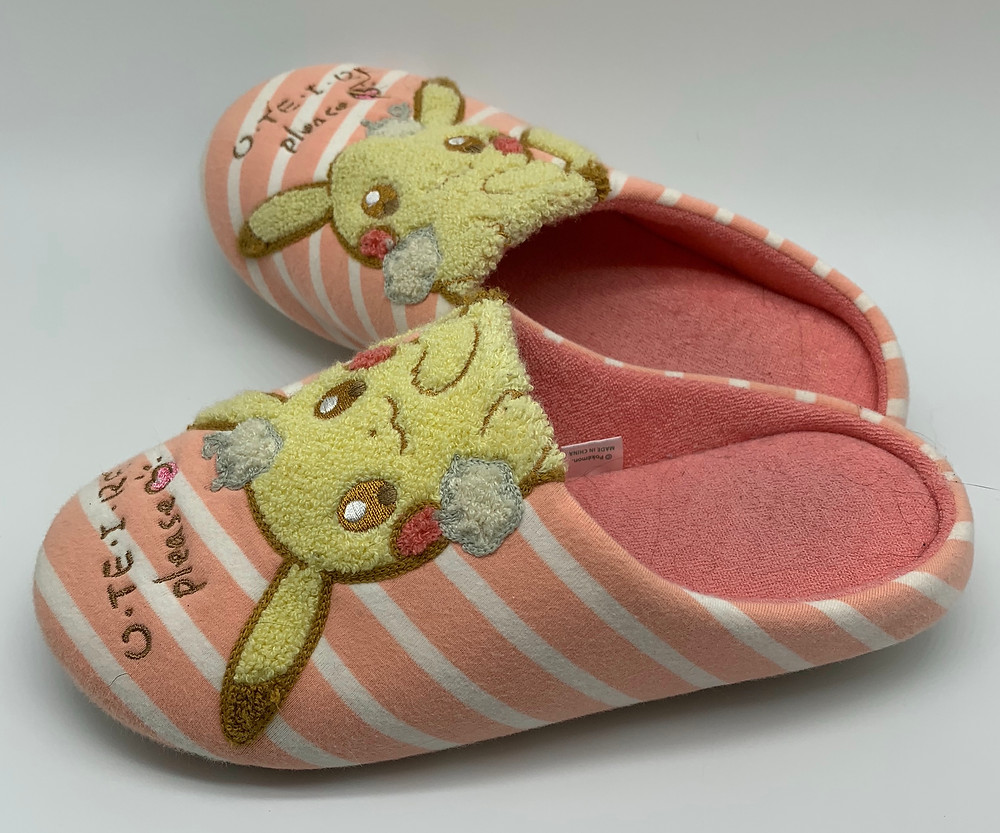 Pikachu slippers from Japan Pokemon Center
