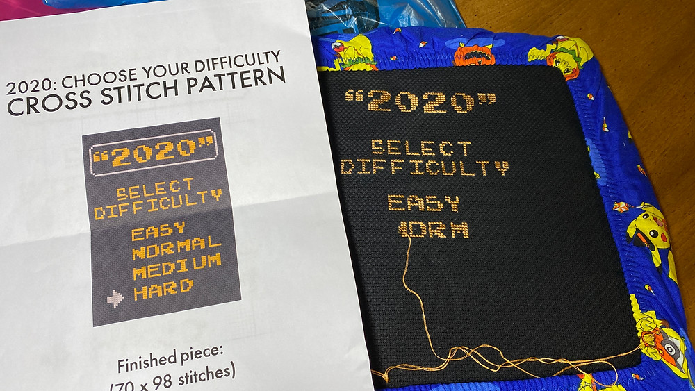 2020 Choose Your Difficulty cross stitch pattern