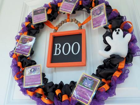 Halloween Pokémon Card DIY Wreath