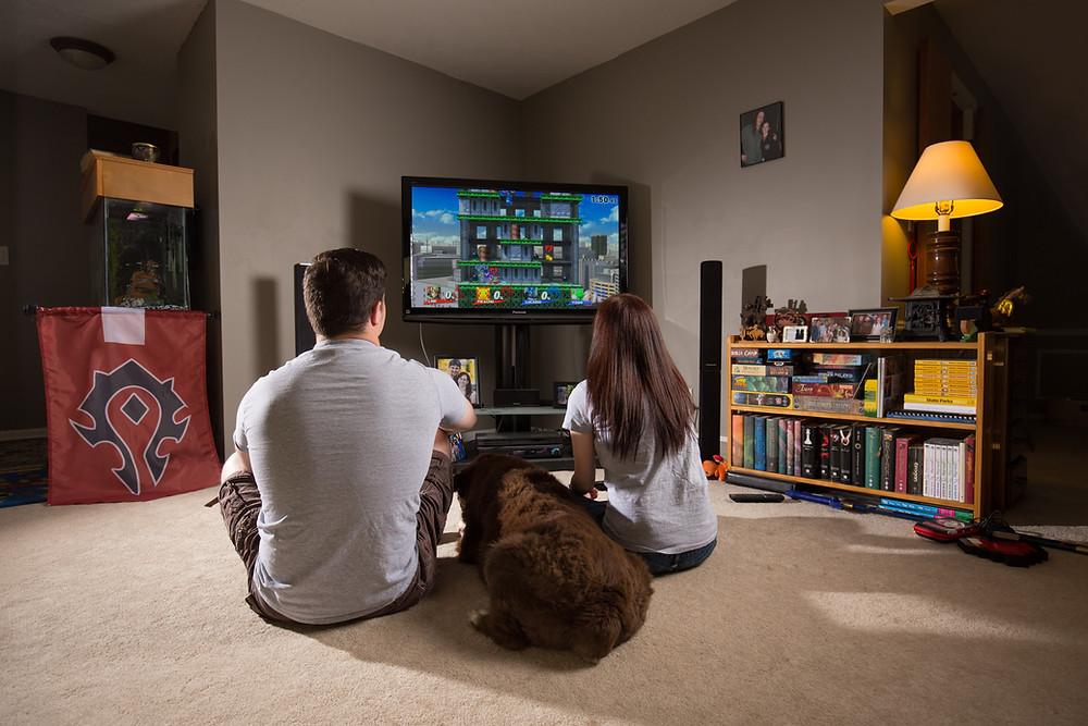 Video game theme engagement photo ideas