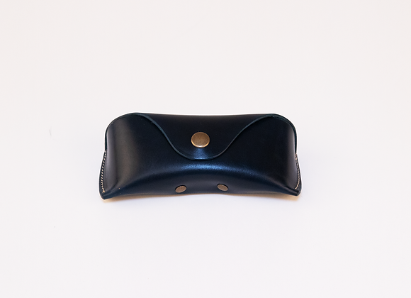 Leather Protective Sunglass Case - Midnight Blue