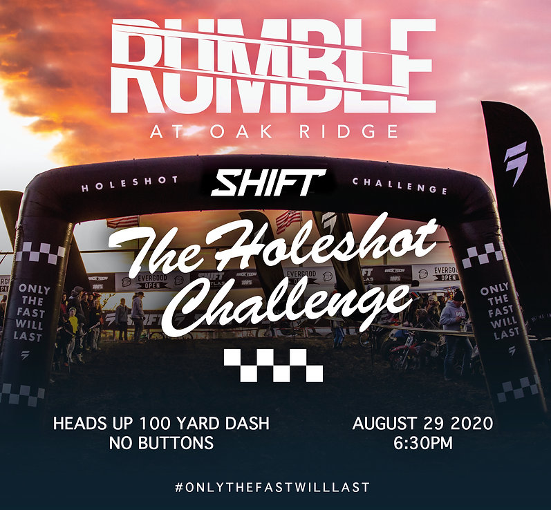 oakridge rumble the holeshot challenge (