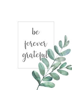 be forever grateful