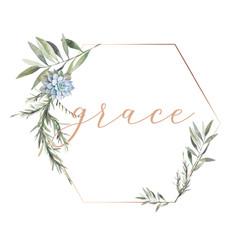 grace - gold frame