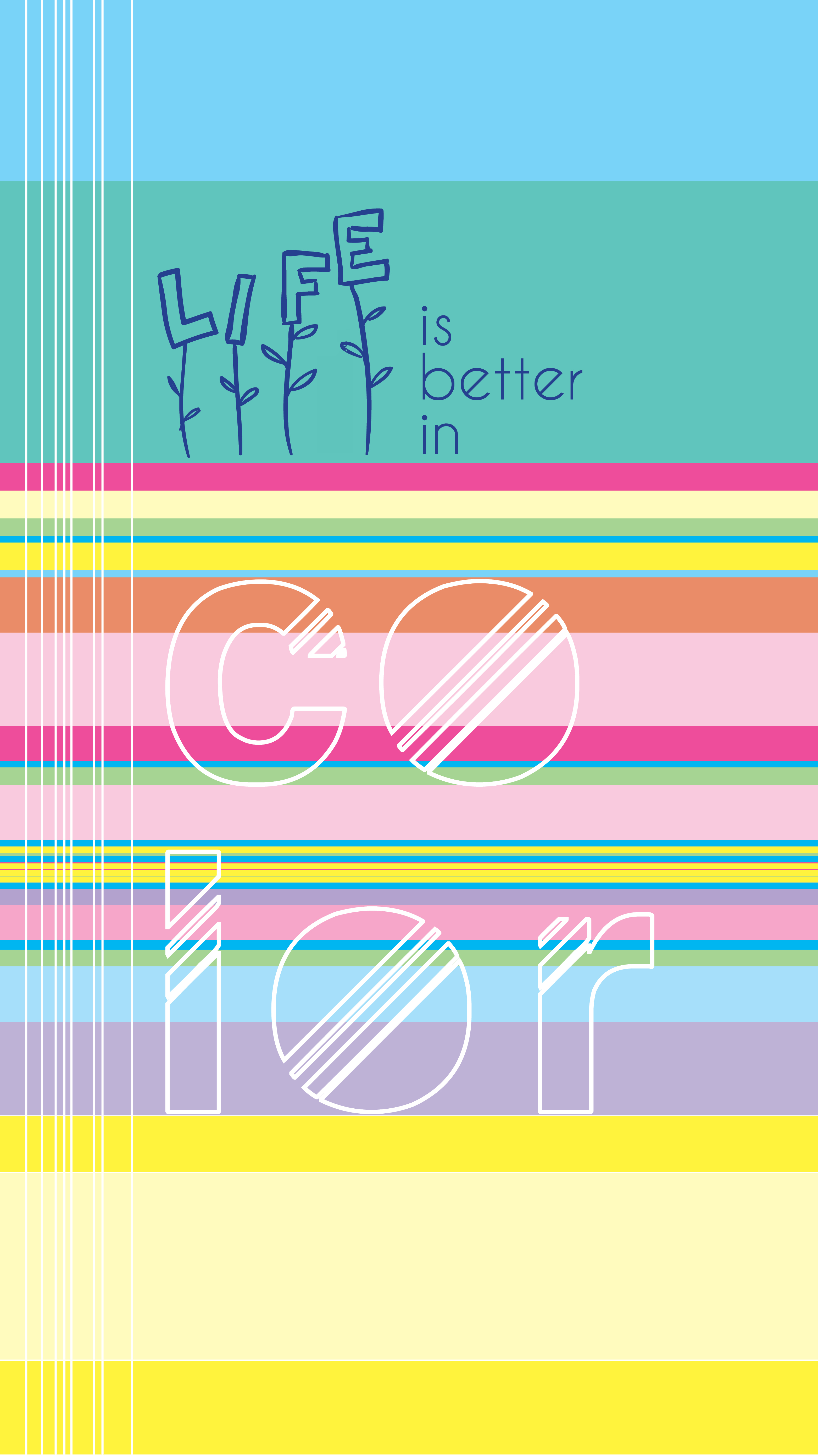 life is better in color - phonewallp