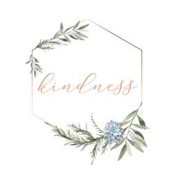 kindness - gold frame 6x6