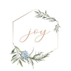 joy - gold frame 6x6