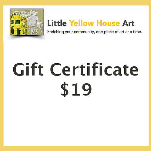 Gift Certificate $19 Value
