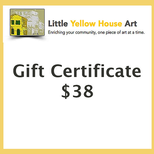 Gift Certificate $38 Value