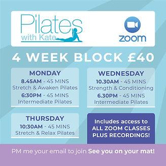 PWK - Social Graphic - 4 Week Block £40