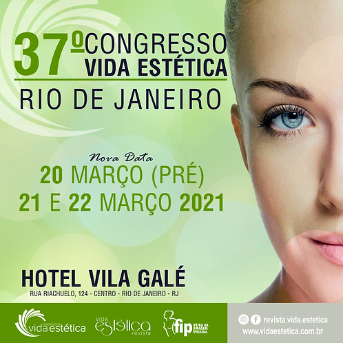 Congresso Vida Estética Rio de Janeiro + FIP (1º Lote) ESTUDANTE