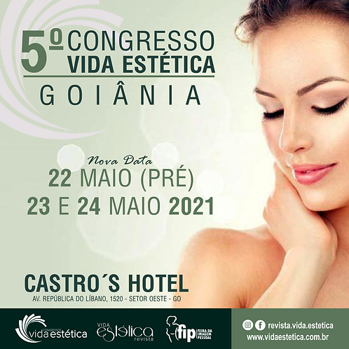 Congresso Vida Estética Goiânia + FIP (1º Lote) ESTUDANTE