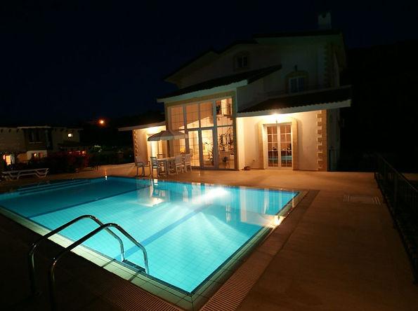 pool illumination at Bellapais