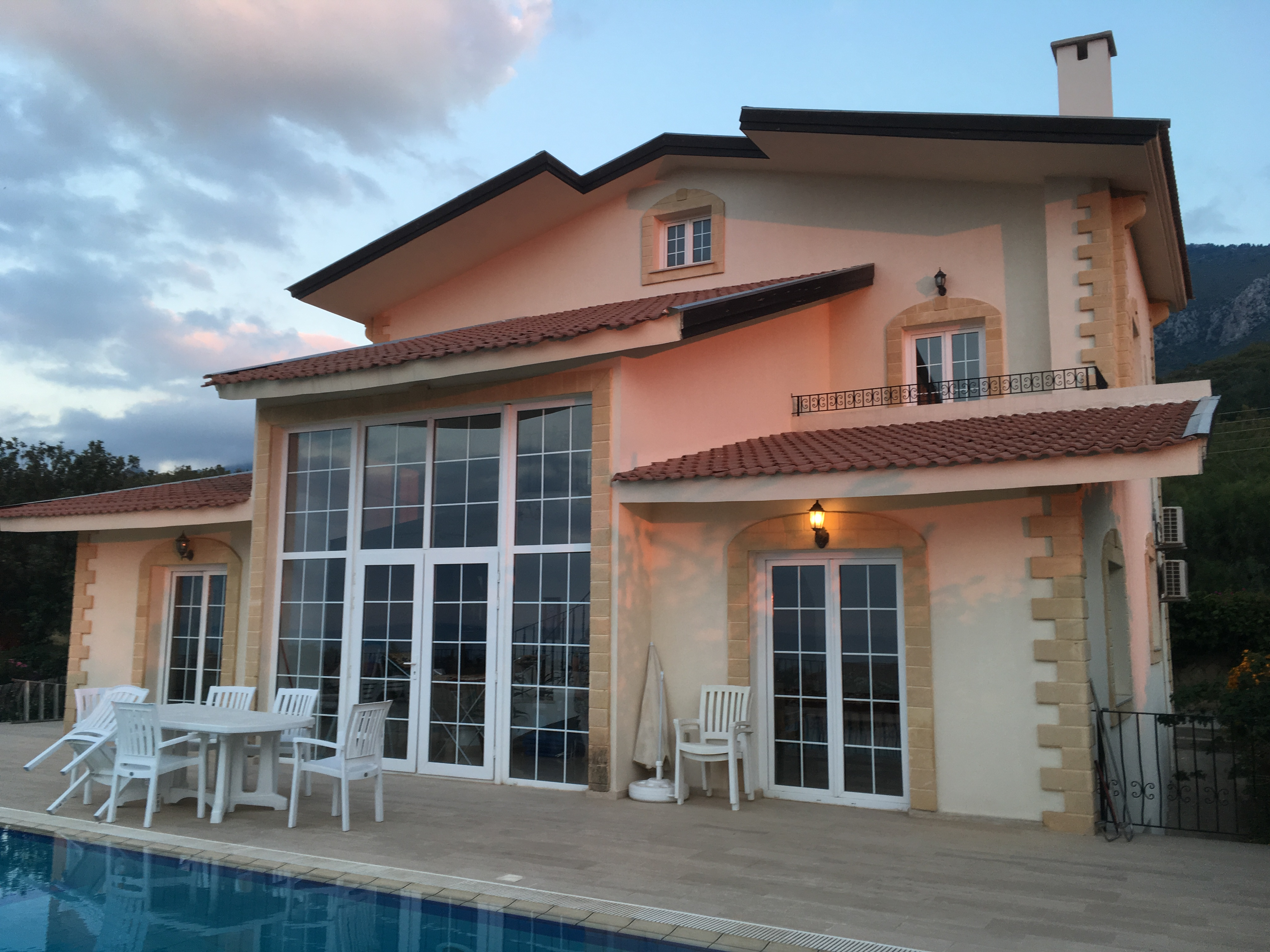 Villa Cankaya pool area, Cyprus