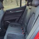 Rear seat of 2019 Alfa Romeo Stelvio QV