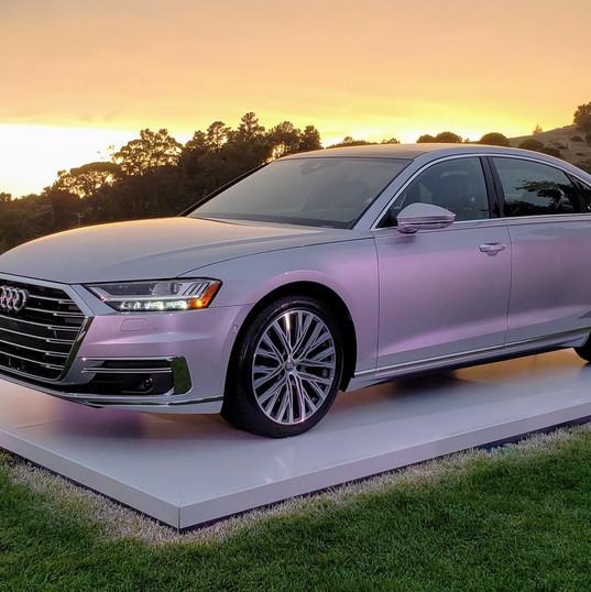 2018 Audi A8L glows in the Big Sur sunset