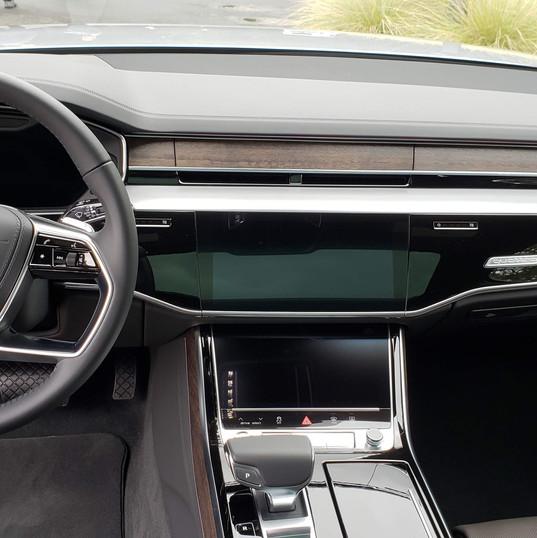 Elegant interior of 2018 Audi A8