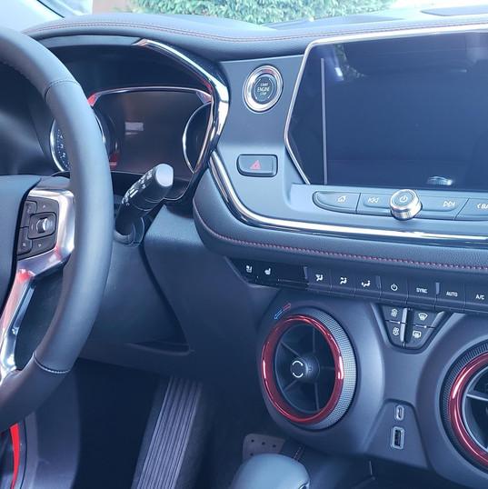 Interior of 2019 Chevy Blazer RS