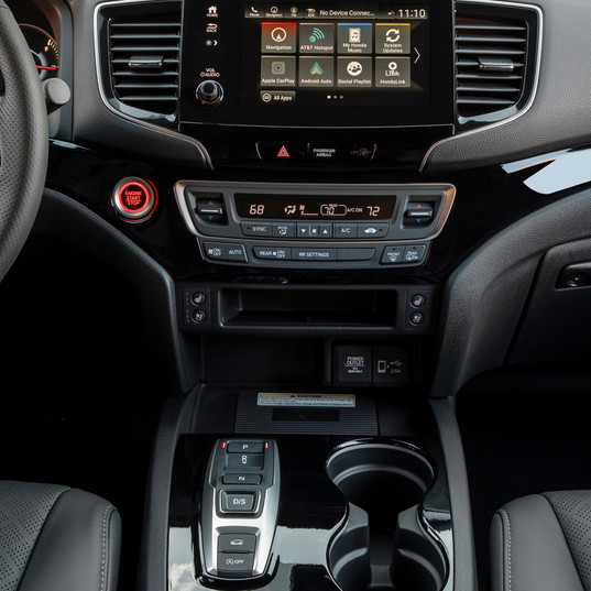2019 Hona Passport center console