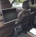Rear seat of 2018 Audi A8