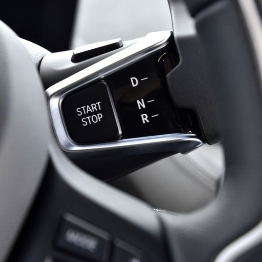 The starter and gear shifter are awkward to use