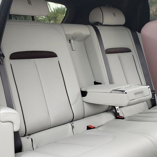 rear seat of Rolls-Royce Cullinan