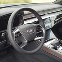 The serene cabin of the 2018 Audi A8