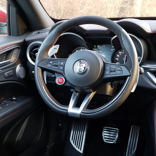 Driver's dashboard of the 2019 Alfa Romeo Stelvio QV